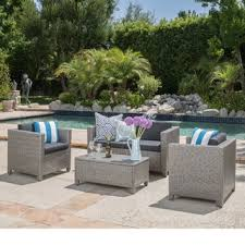 patio couch set puerta outdoor wicker sofa set by christopher knight home