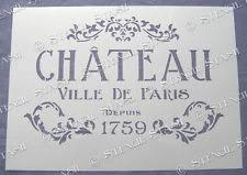 furniture stencils    paris chateau stencil a cv vintage french chic flourish furniture fabric walls