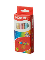 """Мелки восковые """"Krayones"""" трехгранные 12 цветов <b>KORES</b> ..."""