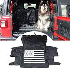Black-US Flag Dog <b>Seat Cover</b> Waterproof Cargo Cover <b>Trunk</b> Liner ...