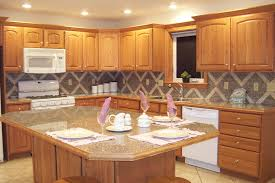 Kitchen Tile Countertop White Kitchen Cabinets Brown Granite Countertops Yes Yes Go