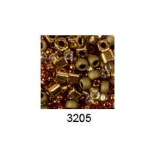 """<b>Бисер</b> ассорти <b>№3205 бронзово</b>-<b>золотистый</b> 25гр """"<b>Toho</b>"""" (Япония)"""