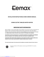 eemax eem24013 manuals eemax eem24013 installation instructions owner s manual