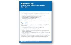 writing a concise job description do better hiring the 5 simple steps to writing a concise job description 366x232