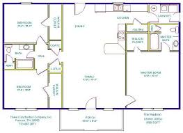 images about Floor plans on Pinterest   Floor plans  Small     foot ranch House Plans   Tinker Construction Company  Inc    Floor Plans