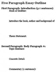 brainstorming   freeology five paragraph essay outline