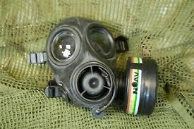 Collectables BRITISH ARMY GSR <b>GAS MASK</b> EXHALE ...