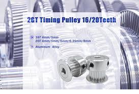 <b>LUPULLEY GT2 Timing Pulley</b> 2GT 16T Bore 5mm 2GT 20T Belt ...