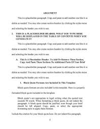 an appellate brief template for word an appellee brief is a response to the appellant s brief as such the formatting