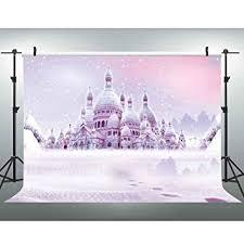 Amazon.com : VVM <b>Fantasy Castle</b> Backdrop Frozen Paradise Party ...