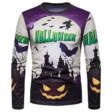 Buy Zimaes-Men Men's Fashion <b>Halloween</b> Party <b>Pumpkin Digital</b> ...