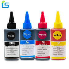<b>4 Color Universal 100ml</b> Refill Dye Ink Kit for Epson for Canon for ...
