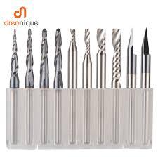 <b>CNC Solid Carbide engraving</b> bits milling cutter woodwork set 3.175 ...
