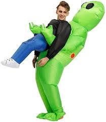 Inflatable ET Costume Green Alien Cosplay Costume ... - Amazon.com