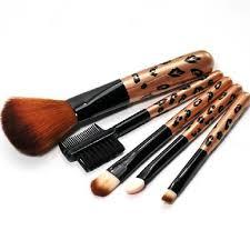 profissional pincel maquiagem 5pcs leopard print makeup blush brush eyebrow brushes set beauty makeup brush set