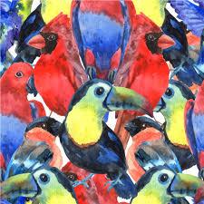 <b>Тропические</b> птицы красочный состав бесшовные шаблон для ...