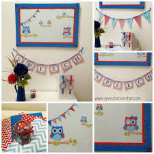 decor red blue room full: red and blue owl classroom decor set