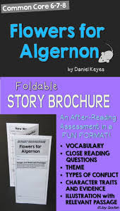 best ideas about flowers for algernon novels flowers for algernon foldable story brochure common core