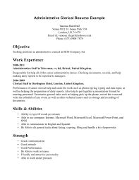 resume picture of printable clerical work resume clerical work picture of printable clerical work resume