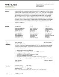 retail cv template   s environment   s assistant cv  shop    retail cv template