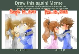 DeviantArt: More Like Draw this again meme -Colorless Winter- by ... via Relatably.com