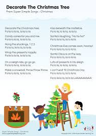 decorate the christmas tree lyrics poster from super simple lyrics poster for decorate the christmas tree christmas song from super simple learning kidssongs