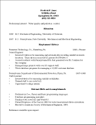résumésresume of frederick p  jones