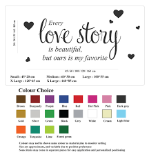 Every Love Story Wall Quote Sticker Wall Decals Words Letterings ...