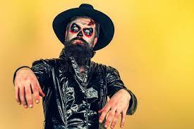 <b>Halloween</b>. <b>Evil Vampire</b> Man. Bearded Man Dressed Like ...