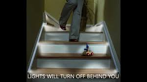 automatic stair lights led strips by ariatronics youtube automatic led stair lighting