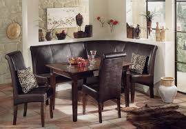 Upholstered Dining Room Bench With Back Vintage Banquette Dining Set Spindle Back Chairs L Shaped Bench