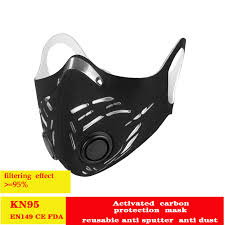 Carbon Filter <b>Cycling</b> Face Mask pollution mask Dust Windproof ...