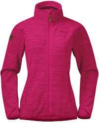 <b>Куртка</b> женская <b>Bergans Hareid Fleece</b> NoHood Bougainvillea Mel ...