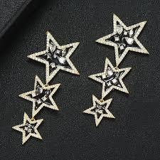 missvikki New Design Lucky Star Pendant Earrings Full Mirco Paved ...