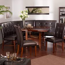 kitchen nook dining room this breakfast nook unit includes the wood table  dining benches corne