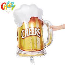 <b>1pc</b> Big Size <b>Cheers</b> Beer Mug Cup Foil Air Balloons For Birthday ...