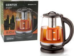 Купить электрический <b>чайник Centek CT-0017</b>, Пластик/стекло ...
