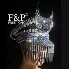 Burning Man Festival Black <b>Gothic Skull</b> Feather Googles Mask ...