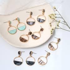 Best Sale #c951 - <b>2019</b> New Women's Earrings Color Metal Simple ...