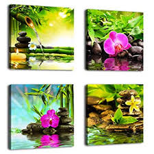 <b>Canvas Art</b> Zen <b>Canvas Prints</b> Spa <b>Wall</b> Decor <b>4 Panel Canvas</b> ...