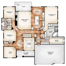 ideas about Floor Plans on Pinterest   House plans  Floors    I love this plan    The Durango model plan features a compelling foyer