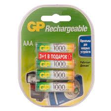 <b>Аккумулятор GP</b> Batteries <b>AAA</b> мизинчиковый LR03 1,2 В 1000 ...