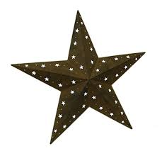 metal star wall decor: cosmic cutouts rustic brown metal barn star indoor outdoor wall hanging  inch