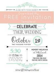 free wedding invitation downloads templates wblqual com Free Printable Wedding Cards Download free template invitations, wedding invitation free printable wedding invitations templates downloads