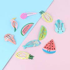 <b>2PCS Korea Simple</b> Pineapple Lemon Watermelon Fruit BB Clips ...