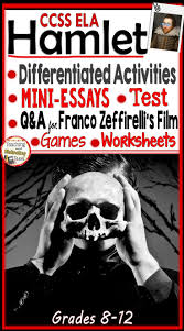 hamlet activity bundle mini essays worksheets rti film q a bring engaging lessons and higher level thinking to your study of hamlet in addition