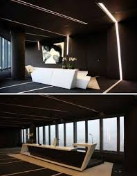 these interiors show the many ways black can be incorporated into a home or office from dramatic matte rooms to bold accent walls asymmetrical reception bridge reception counter office line