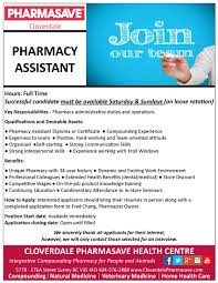 employment opportunities cloverdale pharmasave health centre employment opportunities