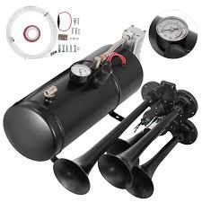 4 <b>Trumpet</b> Train <b>Air</b> Horn Kit 12V 150dB 150PSI 3Liters Compressor ...