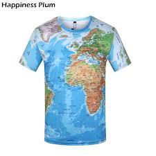 <b>KYKU</b> Brand <b>World Map</b> T shirt Funny T Shirts Summer Fashion ...